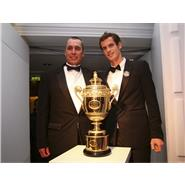 Andy Murray & coach Ivan Lendl Wimbledon Winners Ball 2013